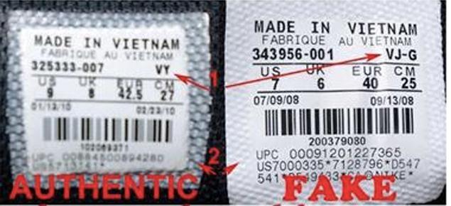 Phân biệt giày Nike chính hãng và fake